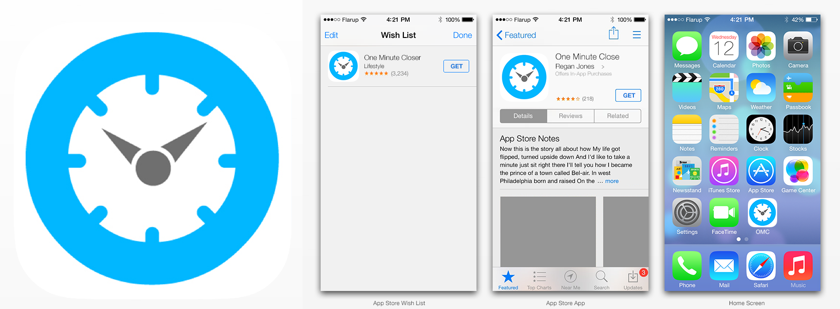 One Minute Closer App Icon